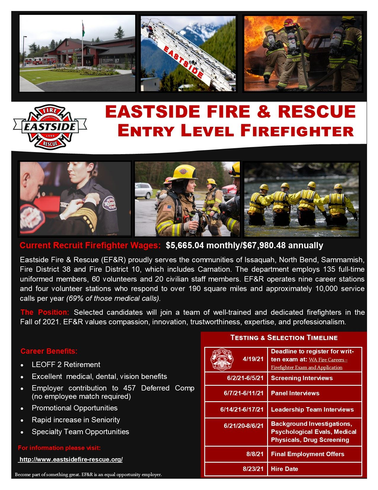 EFR Employment Flyer - Entry Level Firefighter Recruitment
